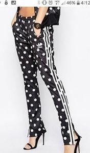 Adidas Slim Supergirl Polkadot Track Pants